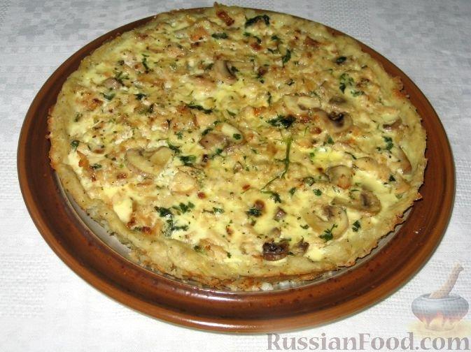 Пирог с курицей и грибами картошкой рецепт пошагово 26