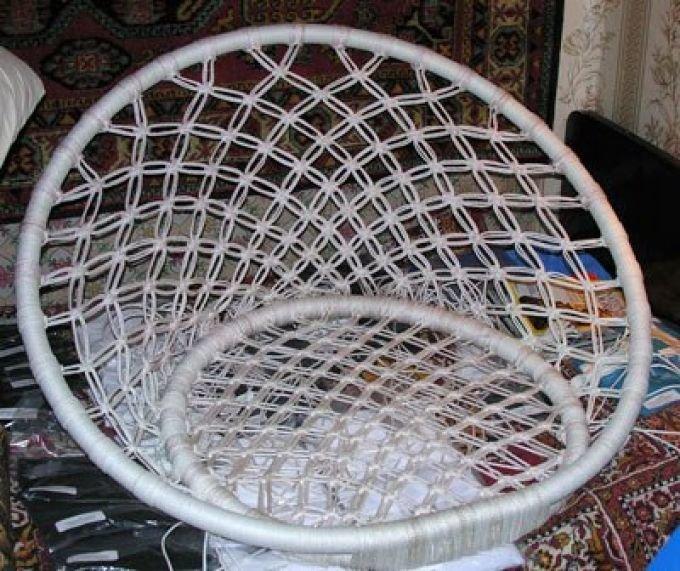 Плетёное кресло подвесное своими руками