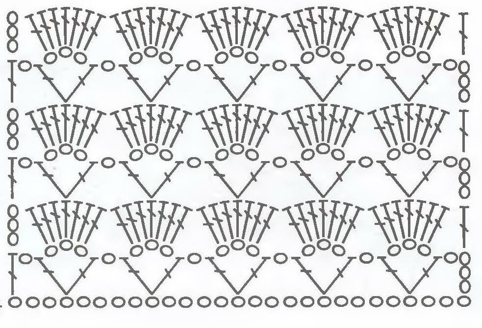 Легкие узоры для вязания крючком с описанием 13