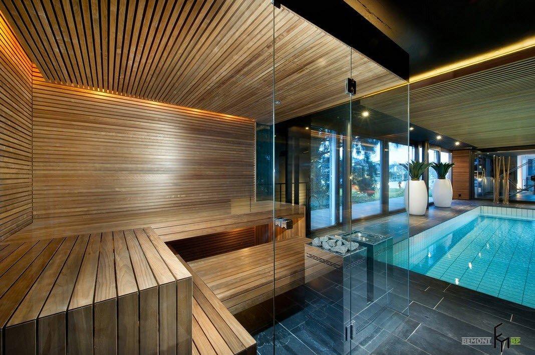 Дизайн и интерьер сауны