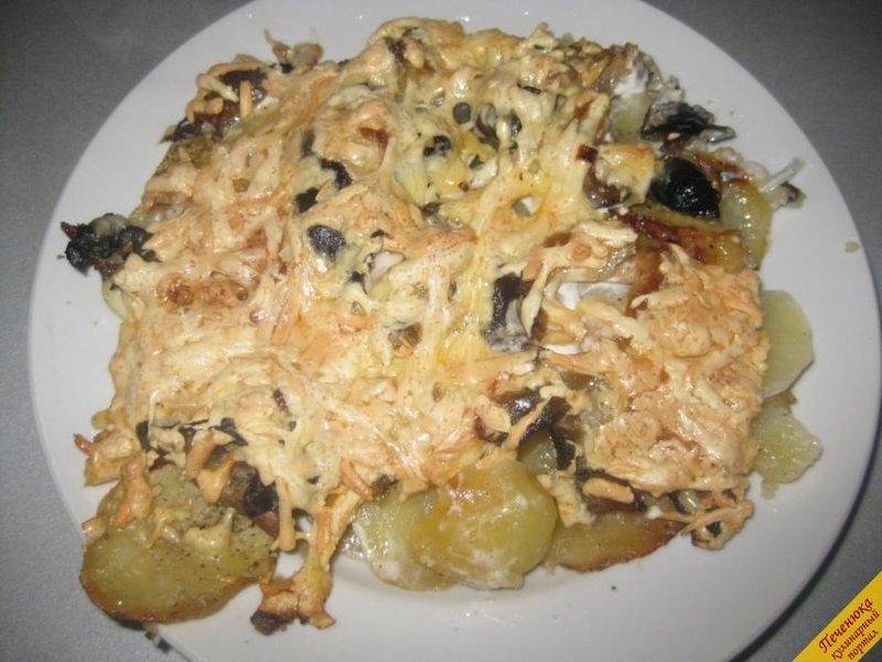 Картошка с грибами рецепт с пошаговый