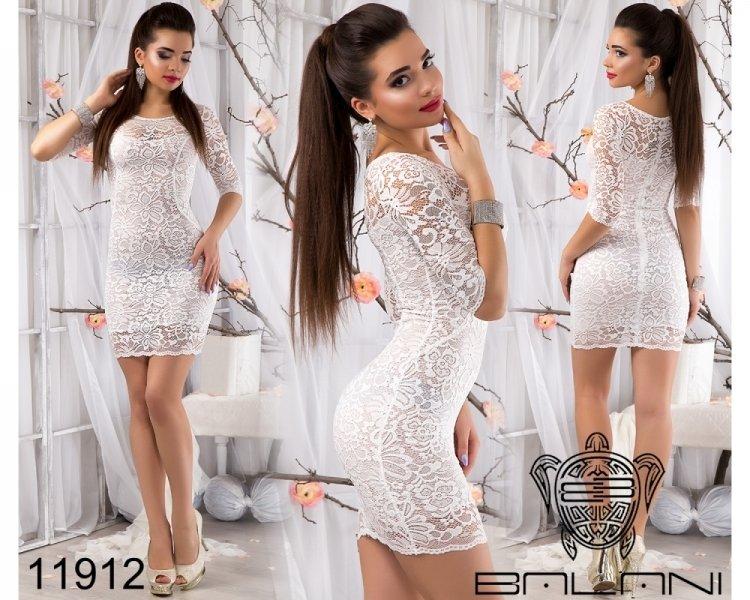 Гипюровые короткие белые платья