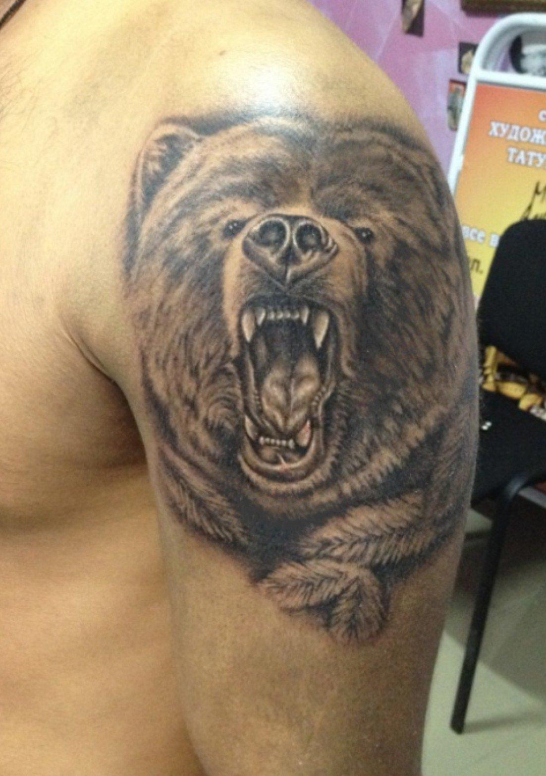 Татуировки для мужчин на плече фото зверей