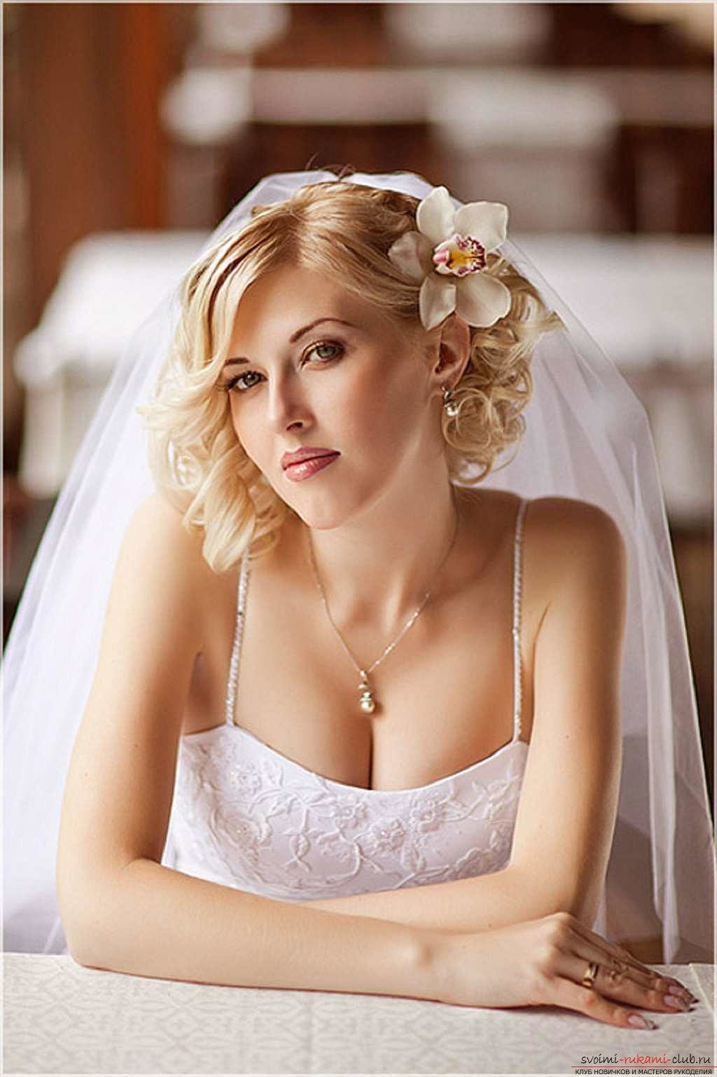 Прически для каре фото для невесты