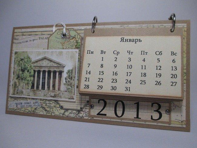 Как сделать настенный календарь своими руками на 2017 года