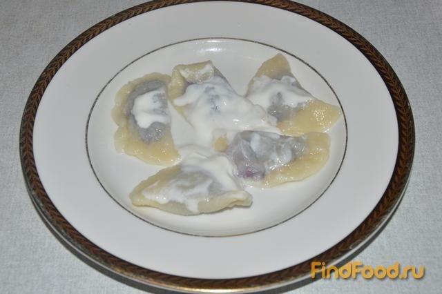 вареники с замороженной черникой рецепт с фото