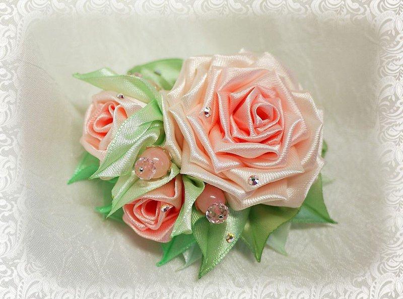 Роза своими руками канзаши мастер класс