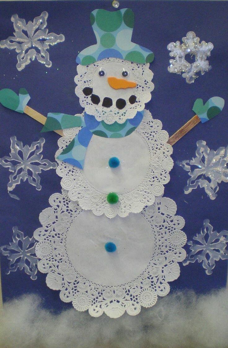 Поделки из бумаге снеговик