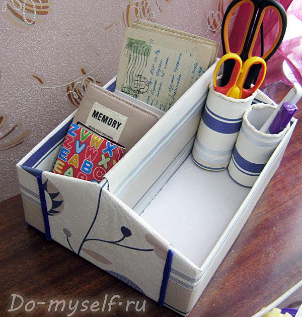 Коробочка для мелочей своими руками из обувной коробки