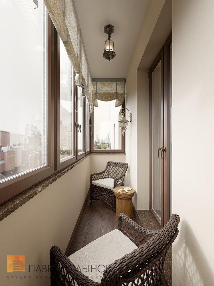 Балкон 3 квм дизайн.