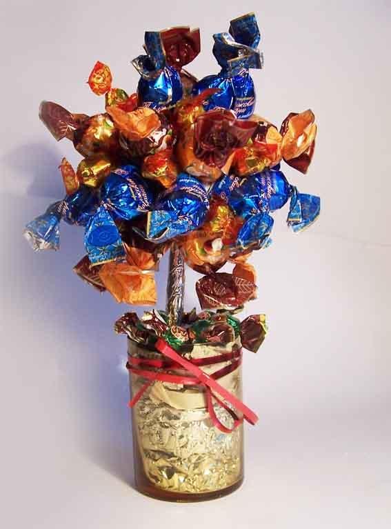 Легкие подарки из конфет 946