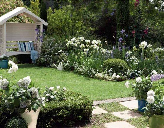 Дизайн деревенского дома и огорода