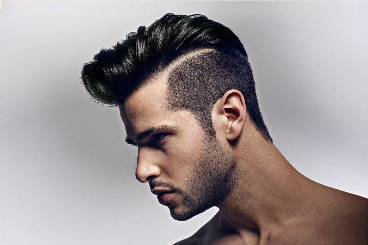 Прически для волос средней длины мужские с пробором