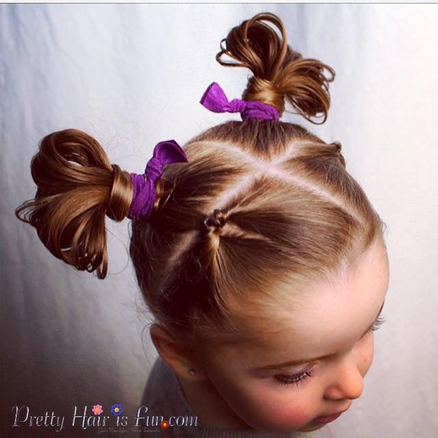 Прическа детская из хвостиков фото