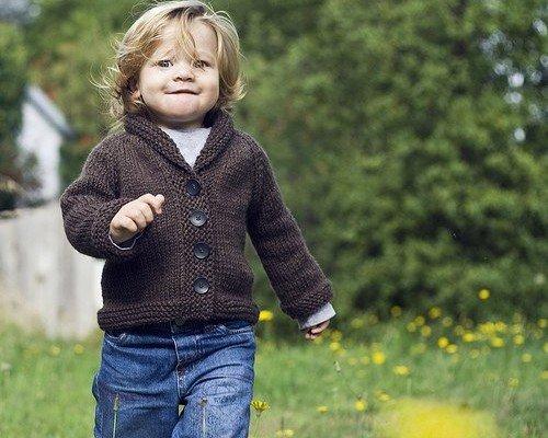 Вязание кардиган для мальчика 100