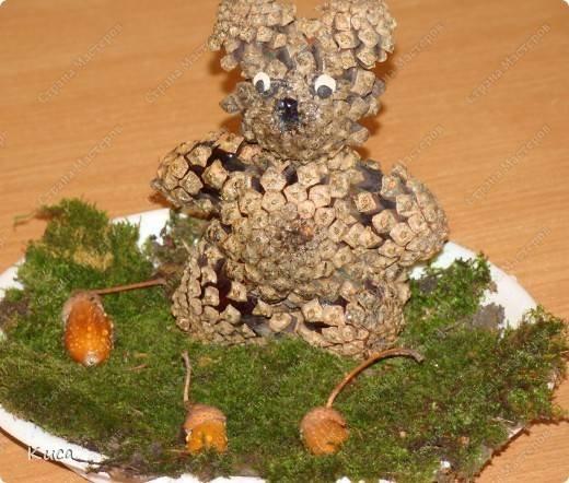 Медведь из природного материала своими руками фото