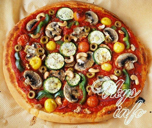 Приготовить пиццу с готовым тестом