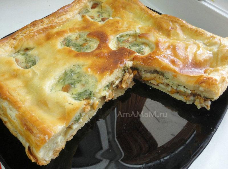 Пирог с яблоками и карамелью рецепт
