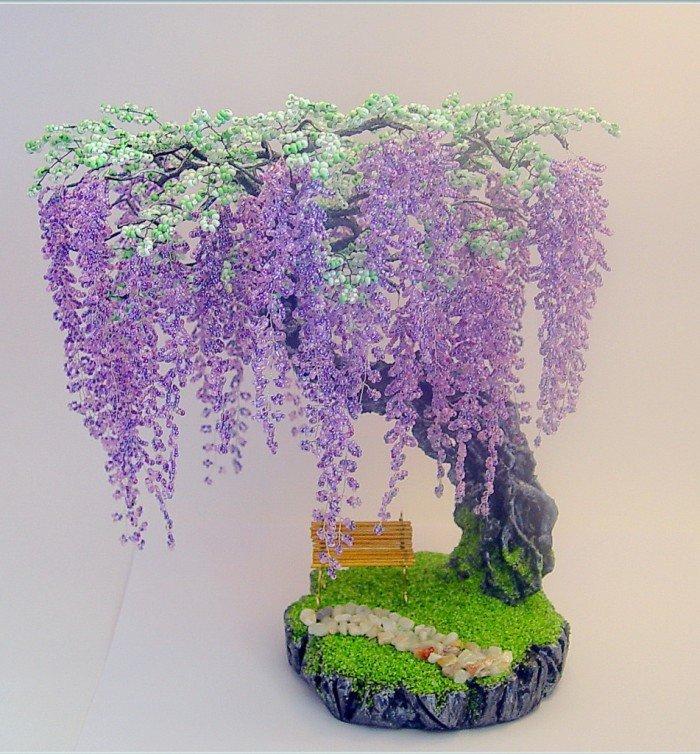 Мастер классы деревья цветы из бисера