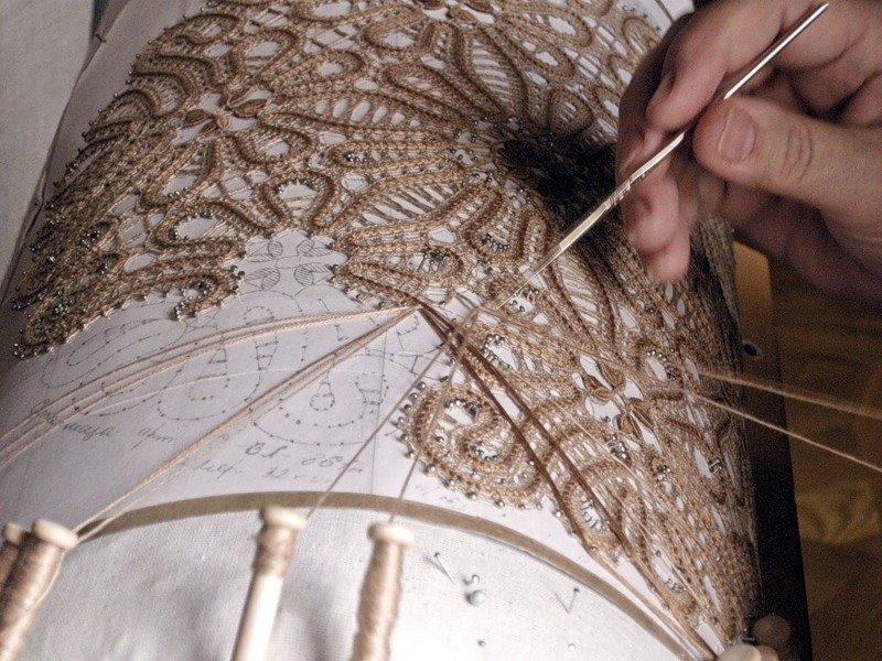 Техника плетения ручного кружева