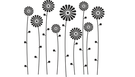 Трафареты для декора своими руками ромашки