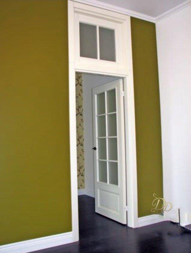 Установка дверей с фрамугой