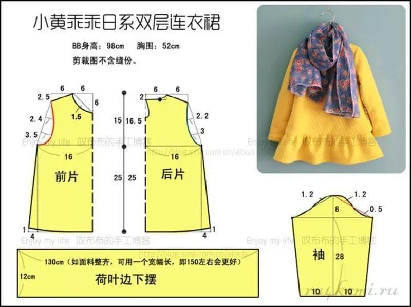 Сшить пальто для девочки с выкройками
