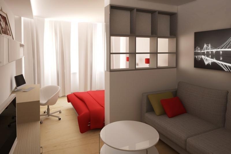 Разделить одну комнату на две дизайн