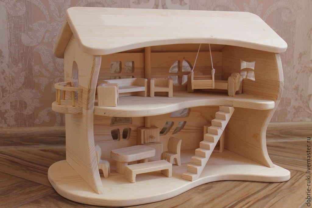 Детский домик для игрушек из дерева своими руками 24