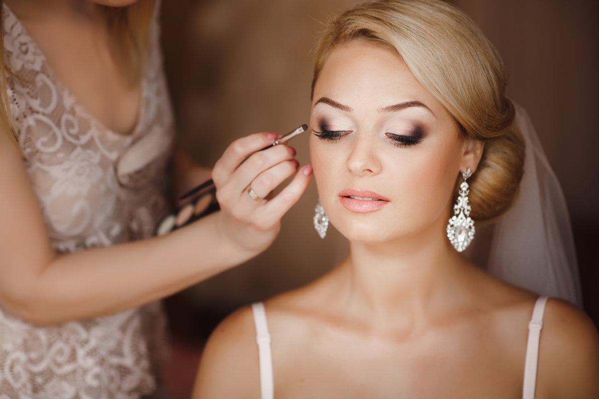 Красивый свадебный макияж невесты, фото, идеи 42