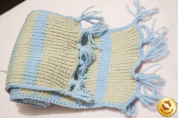 Вязание детских шарфиков спицами для начинающих 69