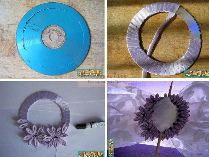 Какую поделку сделать из дисков своими руками