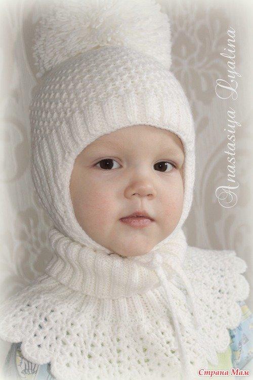Вязание шапок для детей от 1 до 3 лет 21