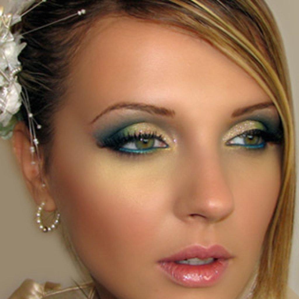 Макияж глаз для зеленых глаз на свадьбу фото