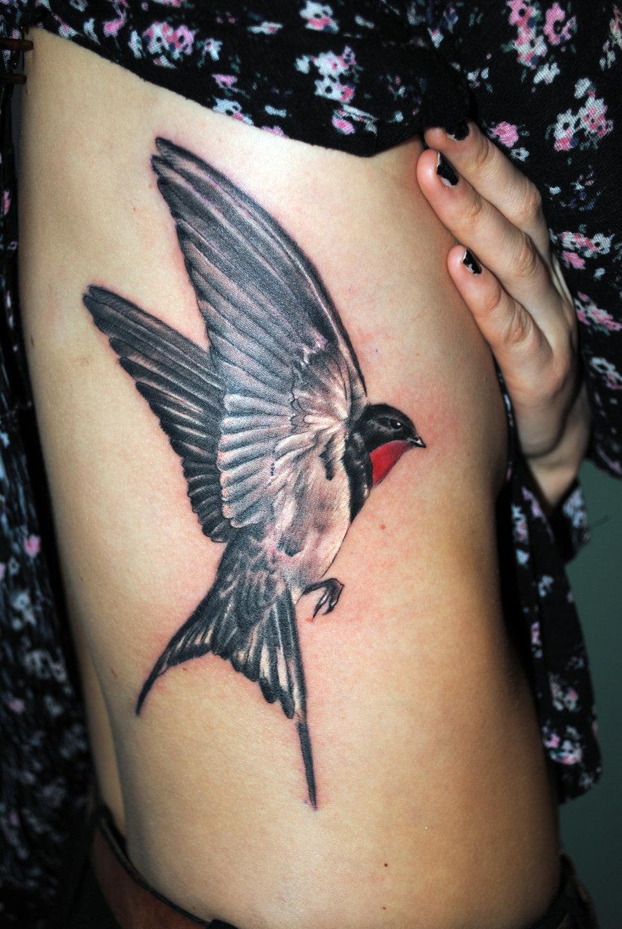 Тату птица на животе для девушек фото