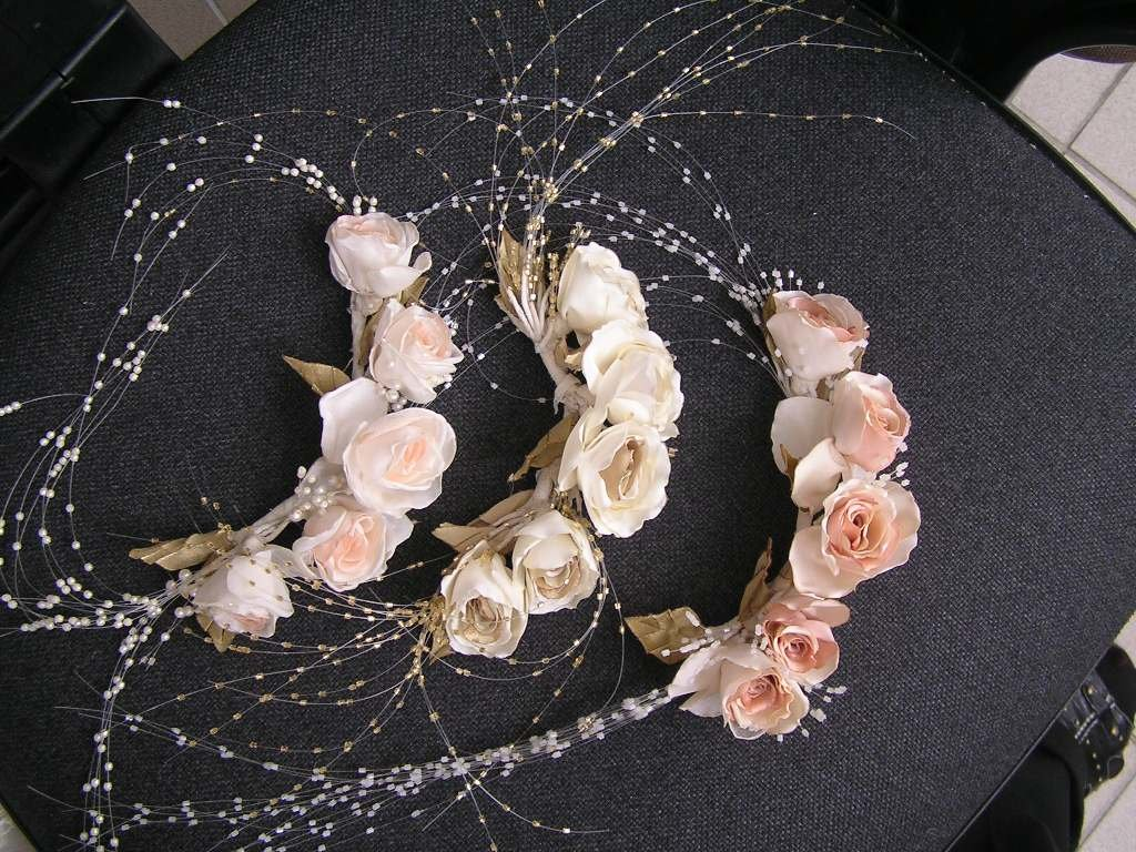 Свадебные украшения для волос своими руками материалы