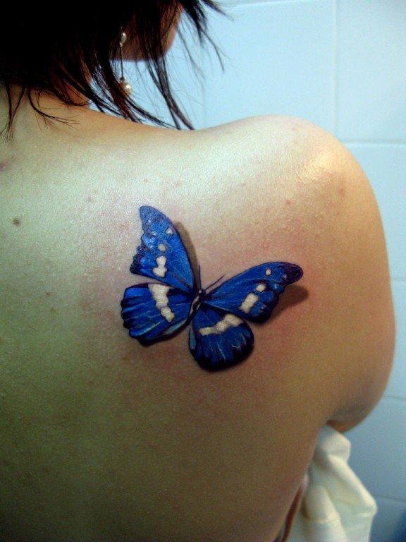 Фото тату бабочка на плече