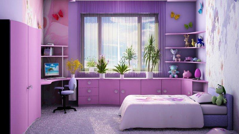 Дизайн для детских комнат для девочек
