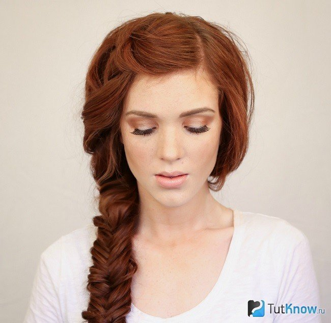 Причёски на длинные волосы с косой на торжество