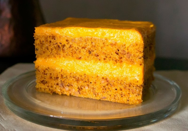 Тыквенный торт с тыквенным кремом