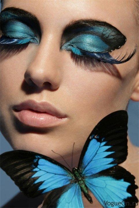 Картинки макияж бабочки сам себе