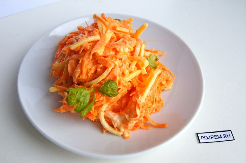 Салат из свежей моркови с чесноком и майонезом рецепт с