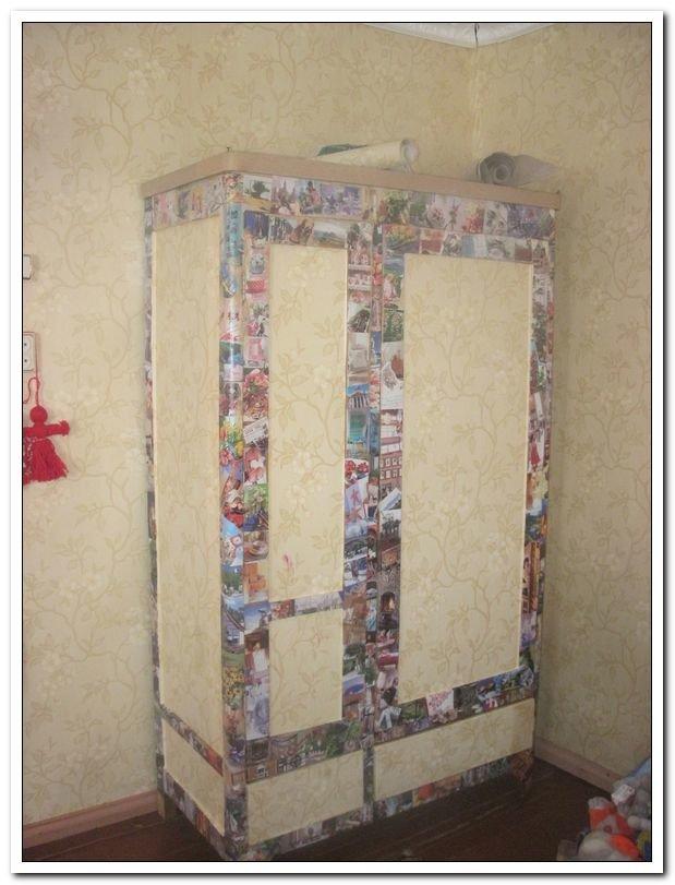 Декор старой стенки своими руками пошагово 7
