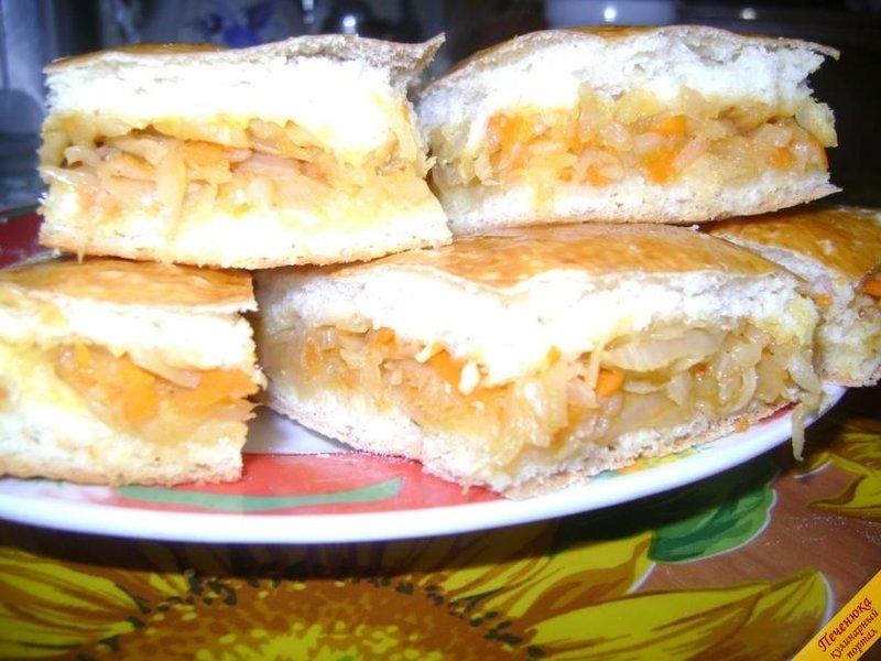 Пирог с капустой рецепт с пошагово в духовке из дрожжевого