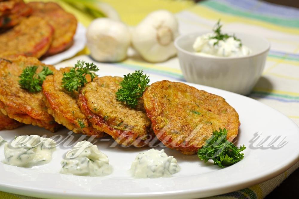 Оладьи из кабачков с манкой пошаговый рецепт
