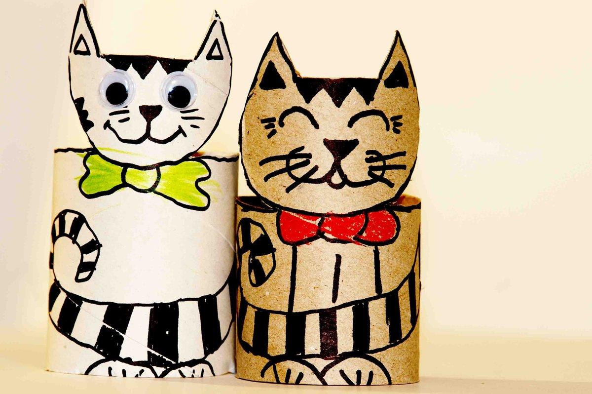 Как сделать из бумаги котенка? 45