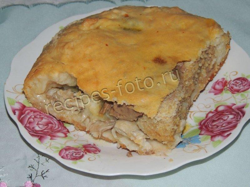 Пирог со щукой с