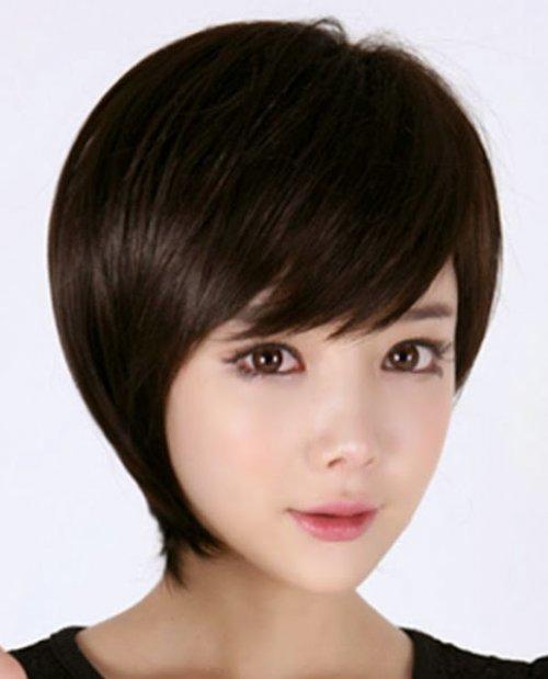 Стрижка шапочка с косой челкой