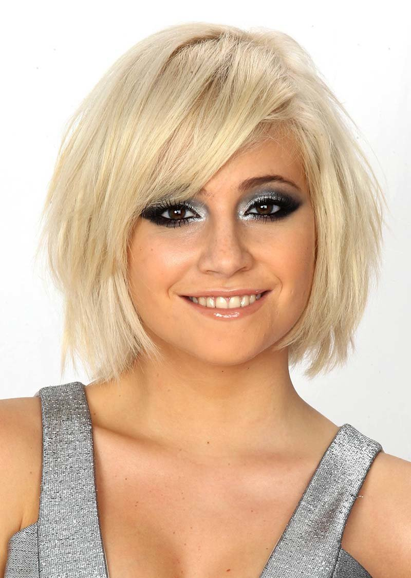 Фото стрижек на тонкие волосы с челкой короткие