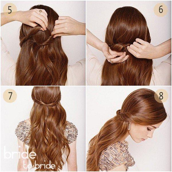 Простые элегантные прически на длинных волосах6